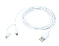 Дата-кабель Lightning MFI+microUSB/USB для Apple iPhone 5/5C/5S/6, iPad 4/Air/Air2/Mini/Mini 2 Retin