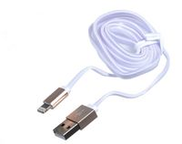 Кабель Lightning/USB для Apple iPhone 5/5C/5S/6/6/7 Plus, Metal color, плоский
