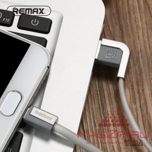 Кабель Lightning REMAX Cheynn for iPhone 5/6/7/SE RC-052i серебро