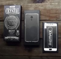 Защитное стекло REMAX Crystal set of Tempered Glass and Phone Case Meizu Pro 6 (белое)