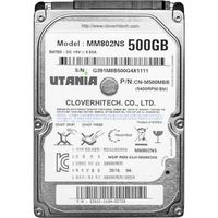 Жесткий диск HDD, 2.5', 500 Гб, SATA III, UTANIA, 8 Мб, 5400 rpm, MM802NS HDD, 2.5'