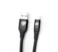 USB кабель INNOVATION (A1I-COBRA) Lightning 1 метр черный (3A)