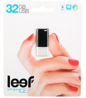 Флешка USB 32GB (USB 2.0) Leef Ice Black (LFICE-032BLR)